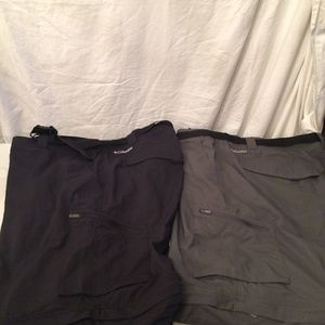 2 pairs Columbia mens Omnishield cargo pants 44X32